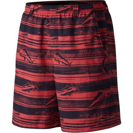 Columbia Mens PFG Backcast II Sunred Shorts