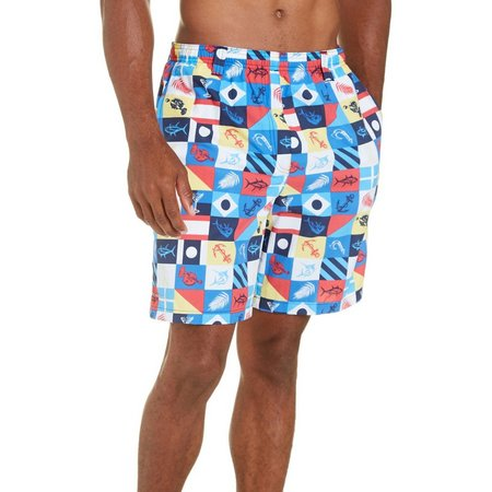 Columbia Mens Flags Backcast Swim Shorts