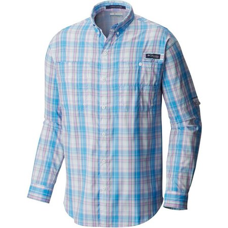 Columbia Mens Yacht Check Super Tamiami Shirt