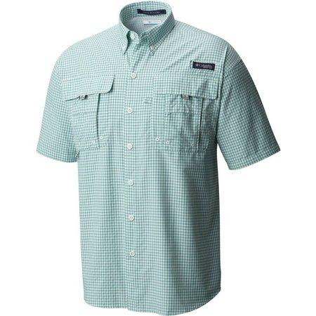 Columbia Mens Super Bahama Kelp Check Shirt