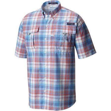 Columbia Mens Super Bahama Vivid Plaid Shirt