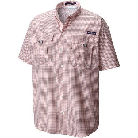 Columbia Mens Super Bahama Gingham Shirt