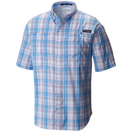 Columbia Mens PFG Super Tamiami Yacht Check Shirt