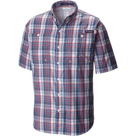 Columbia Mens PFG Super Tamiami Skyler Check Shirt
