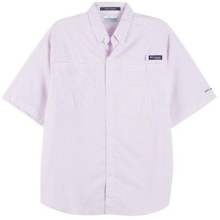Columbia Mens PFG Super Tamiami Hydrangea Shirt