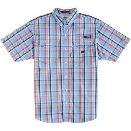 Columbia Mens PFG Super Tamiami White Cap Shirt