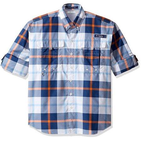 Columbia Mens Super Bahama Plaid Shirt