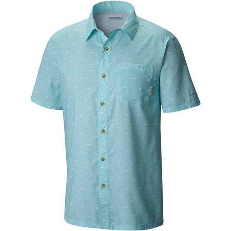 New! Columbia Mens Super Slack Fish Camp Shirt
