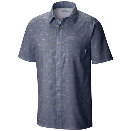 Columbia Mens Super Slack Fish Camp Shirt