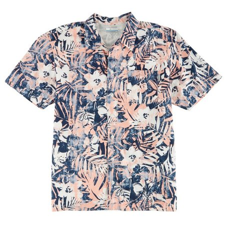 Columbia Mens Short Sleeve Cupid Botanical Shirt