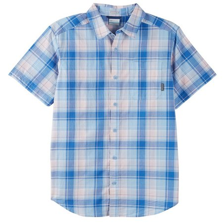 Columbia Mens Thompson Hill Vivid Blue Shirt