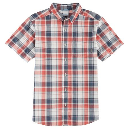 Columbia Mens Thompson Hill Pocket Plaid Shirt