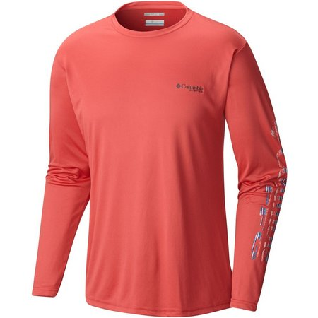 New! Columbia Mens Sunred Terminal Tackle T-Shirt