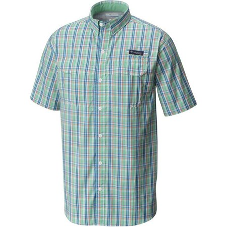 Columbia Mens Plaid Vented Super Low Drag Shirt