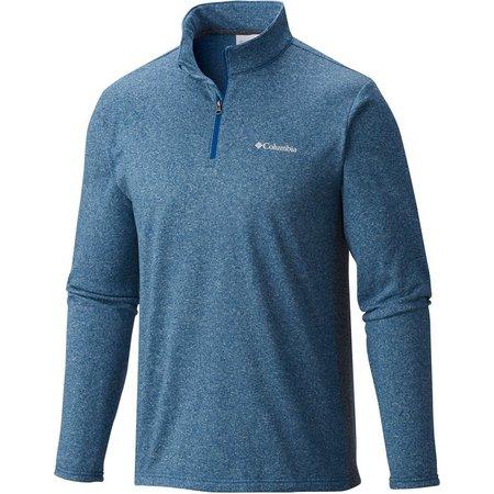 Columbia Mens Tenino Wood Quarter Zip Fleece Shirt