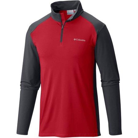 Columbia Mens Tenino Hills Quarter Zip Shirt
