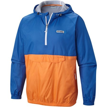 Columbia Mens Terminal Spray Blue Anorak Jacket