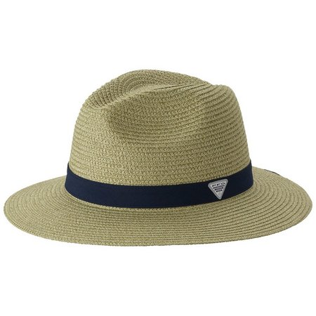 Columbia Mens PFG Bonehead Black Band Straw Hat