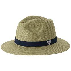 Columbia Mens PFG Bonehead Black Band Straw Hat