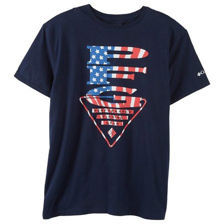 Columbia Mens PFG Vertical Flag T-Shirt