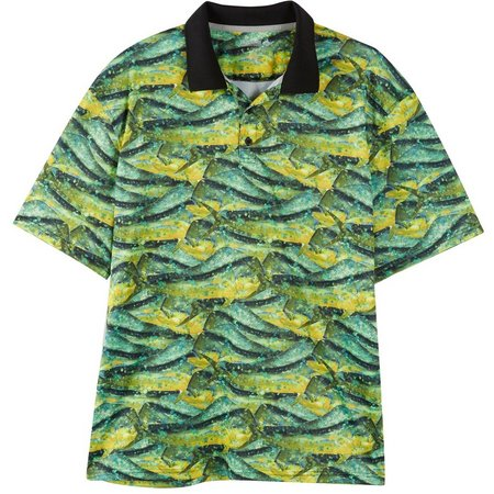 Reel Legends Mens Freeline Halftone Polo Shirt