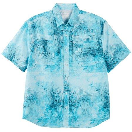 Reel Legends Mens Saltwater Vortex Button Shirt