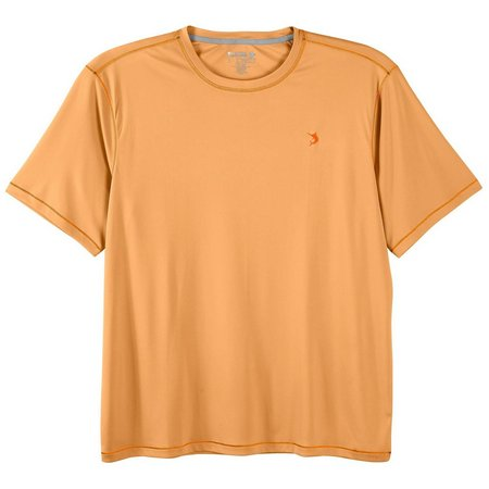 Reel Legends Mens Reel-Tec Mock Orange Solid T-Shirt