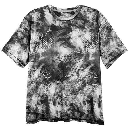 Reel Legends Mens Reel-Tec Grey Camo Scale T-Shirt