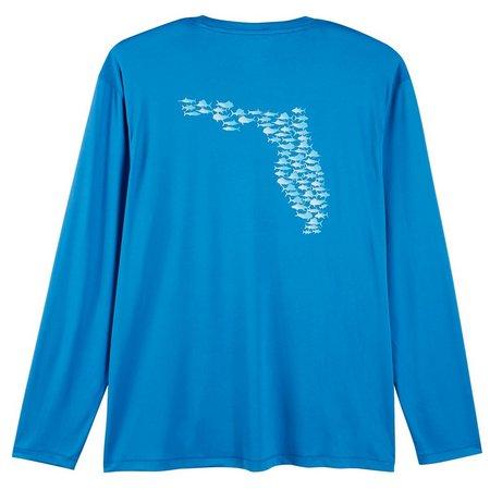 Reel Legends Mens Reel-Tec Fish State T-Shirt