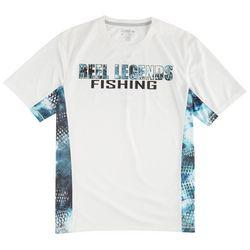 Reel Legends Mens Freeline White Fishing T-Shirt