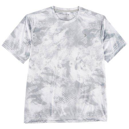 Reel Legends Mens Reel-Tec Camo Scales Ice T-Shirt