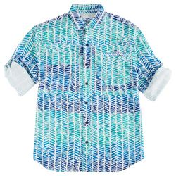 Reel Legends Mens Saltwater Resort Weave Shirt