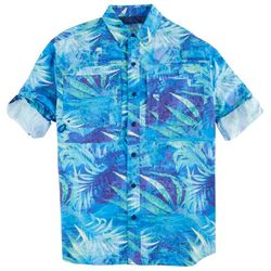 Reel Legends Mens Saltwater Tropical Splash Shirt