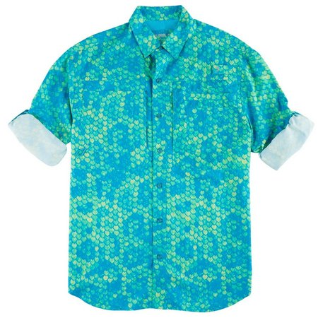 Reel Legends Mens Fishtales Men Saltwater Shirt