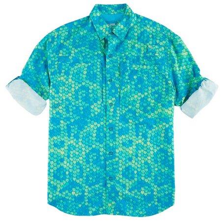 Reel Legends Mens Fishtales Men Saltwater Shirt