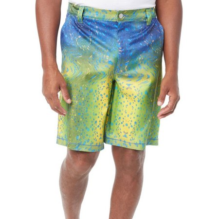 Reel Legends Mens Warped Dorado Hybrid Shorts