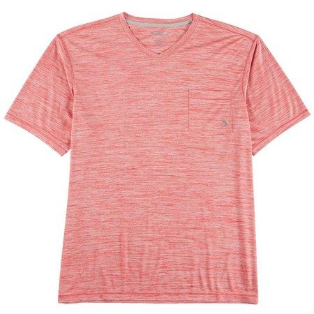 Reel Legends Mens Reel-Tec Heathered Pocket V-Neck T-Shirt