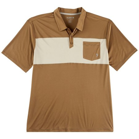 Reel Legends Mens Reel-Tec Capers Colorblock Polo Shirt