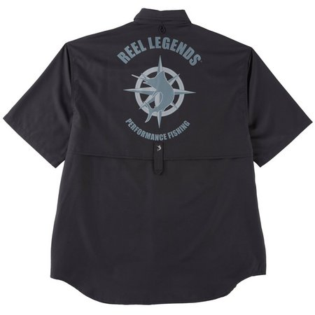 Reel Legends Mens Nautical Saltwater Shirt