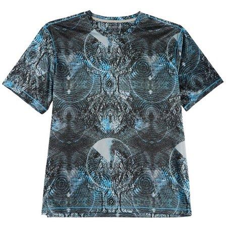 Reel Legends Mens Reel-Tec Blip Topography Print T-Shirt