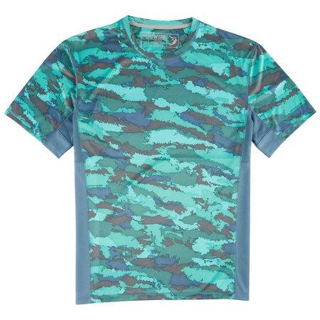 Reel Legends Mens Freeline Coral & Copen T-Shirt