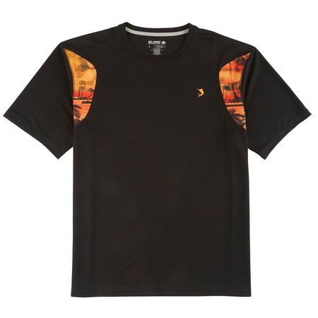 Reel Legends Mens Freeline Black Man Palms T-Shirt