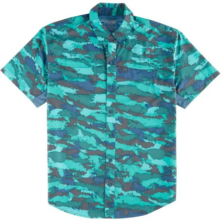 Reel Legends Mens Mariner Coral Shirt