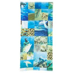 Reel Legends Mens Sea Life Collage Neck Shield