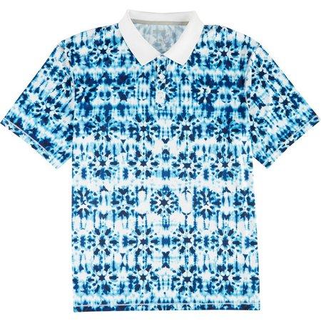 Reel Legends Mens Freeline Resort Dye Polo Shirt