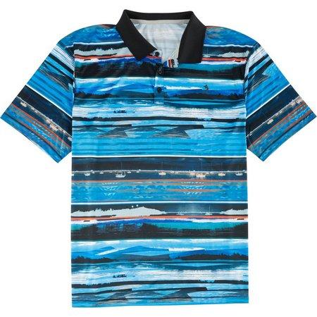Reel Legends Mens Freeline Clam Bayou Polo Shirt