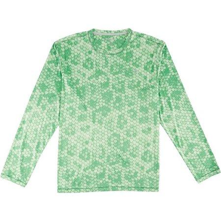 Reel Legends Mens Freeline Fishtale Green Shirt