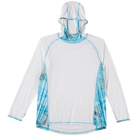 Reel Legends Mens Reel-Tec Marble Verse Flylite Hoodie