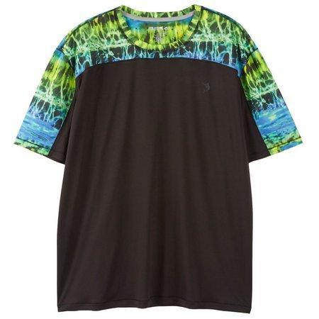 Reel Legends Mens Freeline Black Pieced T-Shirt