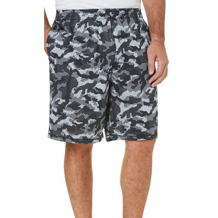 Reel Legends Mens Black Camo Baitcaster Shorts